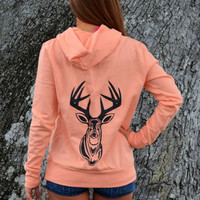Ladies Orange Hunting Sweater