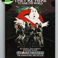 Original Ghostbusters 1984 Glow In The Dark Framed Cool Blacklight Mini Movie Poster