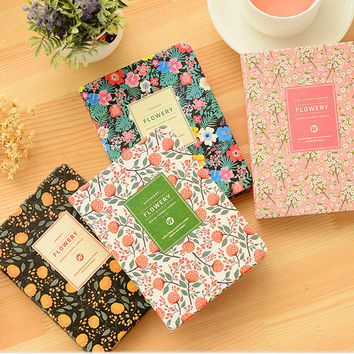 PU Leather Floral Flower Schedule Book Diary Weekly Planner Notebook Material Escolar School Office Supplies Stationery 01605