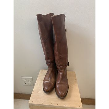 Frye Cognac Leather Riding Boots (7)