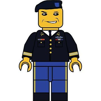 "Army Service Uniform Figurine 5"" Sticker"