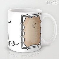 """Dr. Who """"Don't be a Bitchy Trampoline"""" Mug 11/15oz Cup Tea Coffee Drink BBC Television Show TV Tan Handwritten Funny Humor Doctor Gift for"""