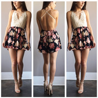 A Lace and Floral Lady Romper