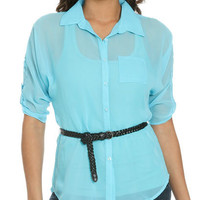 Belted Chiffon Tunic   Shop Just Arrived at Wet Seal