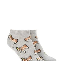 Crowned Bulldog Ankle Socks