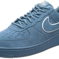 NIKE Men's Air Force 1 '07 LV8 Suede Aqua AA1117-400