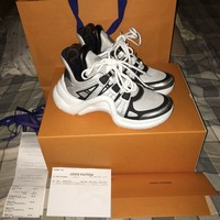 BNIB 2018 LV Louis Vuitton Archlight Sneakers White/Silver EU 37 US 7 + RECEIPT