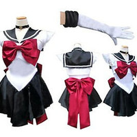 Sailor Moon Pluto Uniform Costume Cosplay Dress Anime Manga