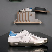 GOLDEN GOOSE GGDB SSTAR Superstar Blue White Leather Sneakers