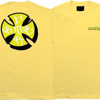 Independent Worrest Sharpie T-Shirt Small Banana Yellow