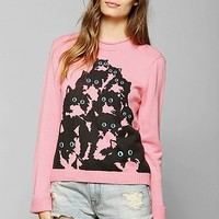 Pretty Snake One-Of-A-Kind Crazy Kitty Roll-Neck Sweater - Urban Outfitters