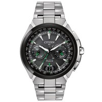 Men's Citizen Eco-Drive Satellite Wave Silver-Tone Titanium Watch