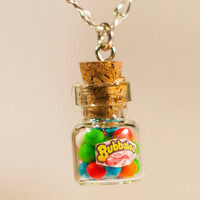 20OFF SALE gum balls necklace miniature kawaii bottle by Zoozim