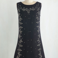 LBD Mid-length Sleeveless Shift What'll It Bead? Dress by ModCloth