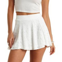 Lace High-Waisted Skater Skirt by Charlotte Russe
