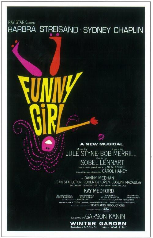 Image of Funny Girl 14x22 Broadway Show Poster (1964)