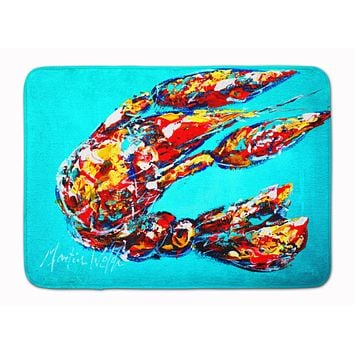 Lucy the Crawfish in blue Machine Washable Memory Foam Mat MW1161RUG