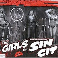 Sin City Girls Action Figures Set of 5 (Black & White) by NECA