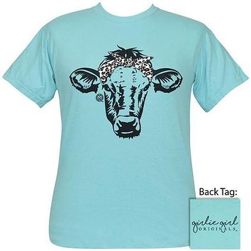 Girlie Girl Originals Preppy Leopard Cow Comfort Color T-Shirt
