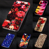 New Phone Cover for Apple iPhone5 5s Luxury Painted Case For iphone 5 5s Hard Cell Phone Case for iPhone 5s 5g