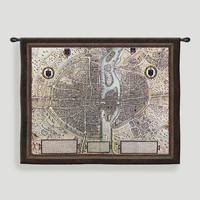 Map of Paris Tapestry Wall Hanging - World Market