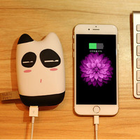 Cartoon portable charger external Battery 10400 mah mobile phone charger Backup powers