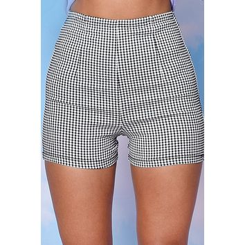 Tennis Time Fitted Gingham Shorts
