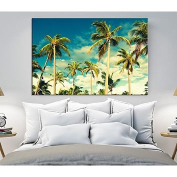 Canvas Print of the Palm Trees