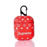 SUPREME MONOGRAM APPLE AIRPOD CASE - RED