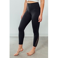 Running In Circles Leggings-Black