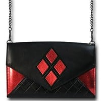 Harley Quinn Foil Envelope Wallet with Chain