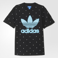 """Adidas"" Men Sports Casual Polka Dots Letter Clover Print Short Sleeve T-shirt Tops"