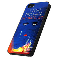 Blue Cover Book The Great Gatsby - Print Hard Case iPhone 4/4s or iPhone 5 Case - Black or White Bumper (Option)