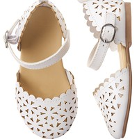 Scalloped Sandals