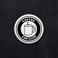 Coffee fan club button