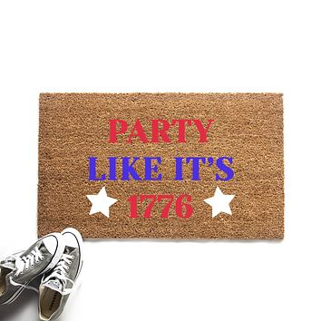 Party Like It's 1776 Doormat