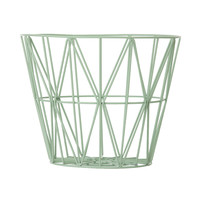ferm living Wire basket M mint   Ting