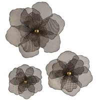 Imax Medium Iron Mesh Flower Wall Dcor