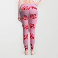 Coffee Cupcakes Wine (PINK) Leggings by CreativeAngel
