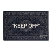 """KEEP OFF"" Modern IKEA Patterned Rug by OFF-WHITE"