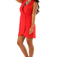 Kisses For You Dress: Bright Red