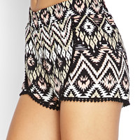 Southwestern Patterned Tulip Shorts