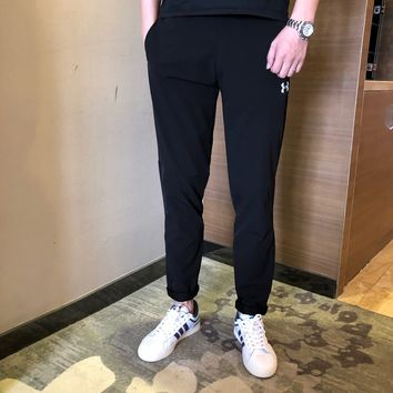 """Under Armour""Men Vintage All-match Simple Waterproof Logo Skinny Jeans  Sweatpants Leisure Pants Trousers"