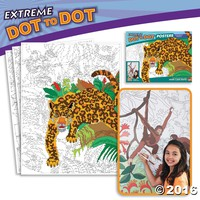 Extreme Dot to Dot 7-Poster Set: Rainforest Animals