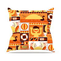 "Tobe Fonseca ""Summer"" Orange Seasonal Throw Pillow"