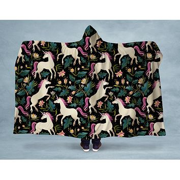 Unicorn Forest Hooded Blanket