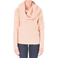 Catherine Malandrino Womens Wool Cable Knit Pullover Sweater