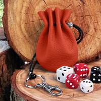 Small Red Leather Purse, Leather Coin Purse,