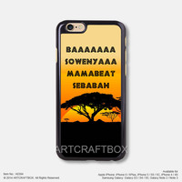 Hakuna Matata Disney iPhone Case Black Hard case 394