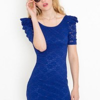 Power Puff Lace Dress - NASTY GAL